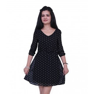 dlyric Womens A-line Black Dress