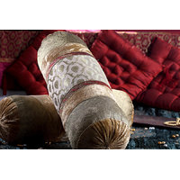 Jodhaa Gold Illustrious Design Bolster With Borders On Both Sides