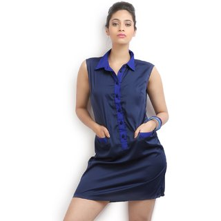 Missy Miss Womens A-line Dark Blue Dress