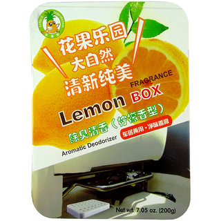 PERFUMED AIR FRESHNER GEL FOR CAR, HOME, OFFICE, TOILET (Lemon)