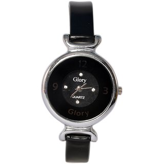 Glory black watch for Girls  Women (Round)