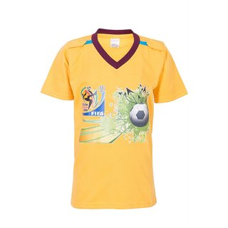 Ultrafit Junior Boys Cotton Yellow T-Shirt