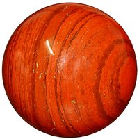 Satyamani Natural Red Jasper Gemstone Sphere-Ball For Reiki Chakra Vastu And Space Healing