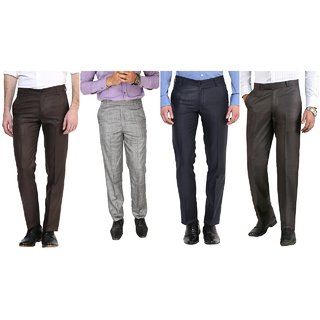 crafters premium unstich trouser combo of 4