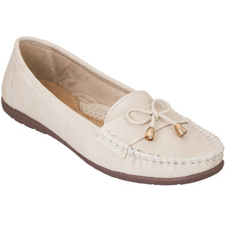 Fashion Feet Beige Women Loafers