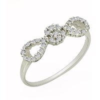 Sweet design 925 sterling silver rings with cubic zirconia gemstone SHRI0644