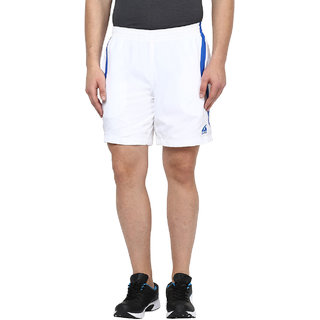 Aurro Sports White/Royal Agile Shorts