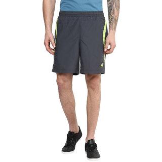 Aurro Sports Graphite/lime Agile Shorts