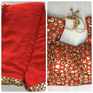 Designer blouse with saree