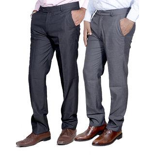 Indiweaves Men Rayon Formal Trouser Combo -2