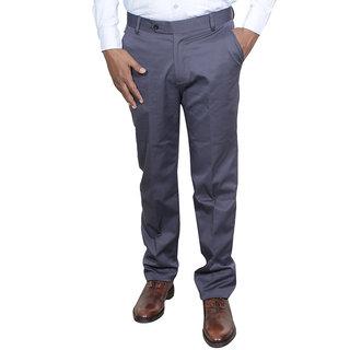 Indiweaves Men Rayon Grey Trouser