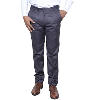 Indiweaves Men Rayon Grey Trouser