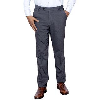 Indiweaves Men Rayon Black Trouser