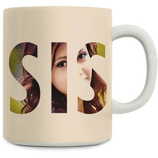 Giftsbymeeta Sweet Sister White Rakhi Gift Mug For Sister