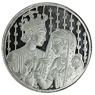 Shubham Motiwala BIS 999 Hallmark Certified Bride  Groom Silver Coin, 10 Gms