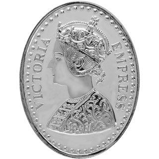 Shubham Motiwala BIS 999 Hallmark Certified Queen Victoria Coin, 100 Gms