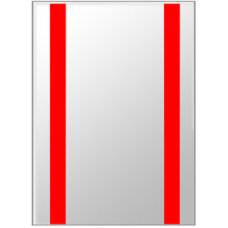 Snb Designer Mirror Glass Red Colour 21X15 Inches
