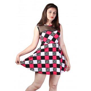 dlyric Womens A-line Multicolor Dress