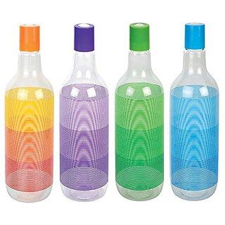 Jaycoknit Aquapet Plastic Fridge Bottle Cheers,Set Of 4 Bottles,Multi-Colorr