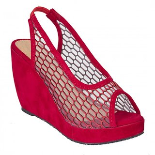 Fashion Feet Women Red synthetic leather Wedges