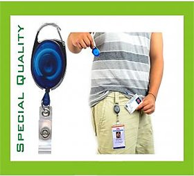 5pcs- ID Badge Card Holder Retractable Pulley Chord