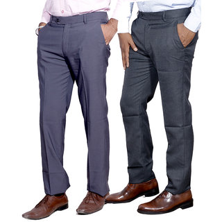 IndiStar Men Rayon Formal Trouser Combo -2