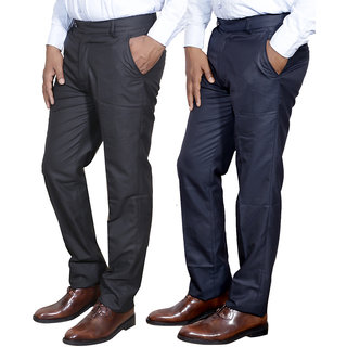 IndiStar Mens Formal Trousers Combo-2