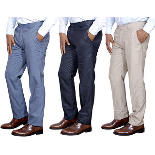 IndiStar Mens Formal Trousers Combo-3