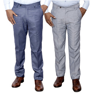 IndiStar Combo Offer Mens Formal Trouser (Pack of 2)