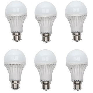LED Bulb 6 Watt White (Set of 6 pieces)
