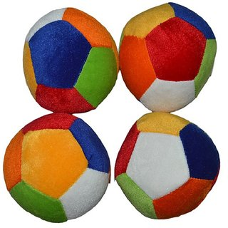 Foot ball multi color soft ball for kids-8 cm combo of four balls