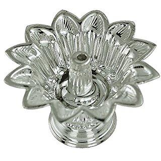 Shubham Motiwala Pure Silver Beautiful Floral Pooja Diya
