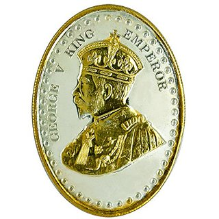 Shubham Motiwala Emperor King George Silver Coin with Gold Polish, 20 gms