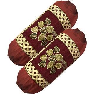 Tanyas Homes Chenille and velvet Bolster Covers(pack of 2pc)