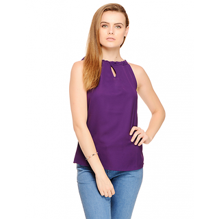 Cattleya Sleeveless Top In Purple