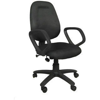 Earthwood --Black Revolving Office Chair