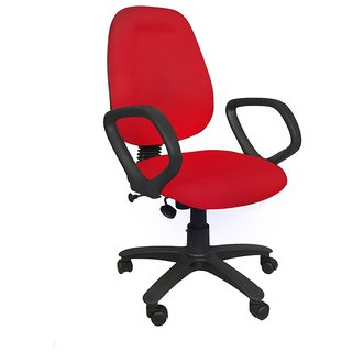 Earthwood - Revolving Office Chair - Red