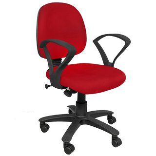 Earthwood - Revolving Office Workstation Chair Red