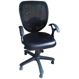 Earthwood - Low Back Office Chair in Black
