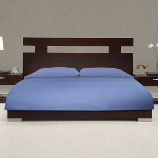Just Linen 500 TC 100 Cotton Sateen Self Mini Stripe Blue Queen Size Duvet Cover