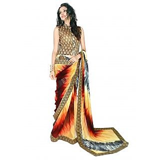 Yuvastyles Womens Glorious Colorfull Tone Awesome Saree