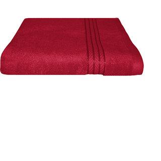 Just Linen 100 Cotton Ultra Plus Red Bath Towel