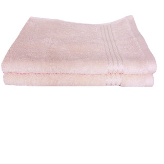 Just Linen Pair of 100 Cotton Ultra Plus Misty Rose Hand Towels