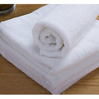 shree plain cotton bath towel (white)