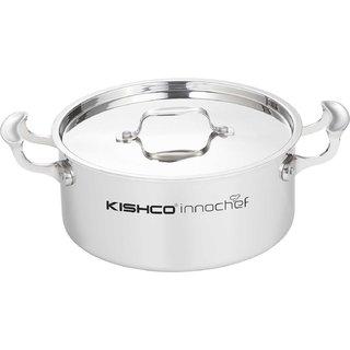 Kishco 3Ply SS Cook Serve - 24 CM (4.5 Ltr) + Lid