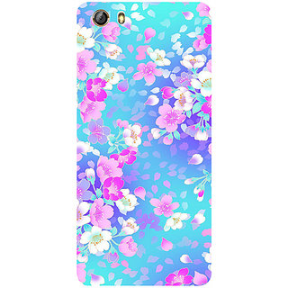 Casotec Floral Blue Pattern Design 3D Printed Hard Back Case Cover for Gionee Marathon M5 lite