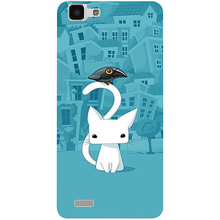 Casotec City Cat Design 3D Printed Hard Back Case Cover for vivo Y27L