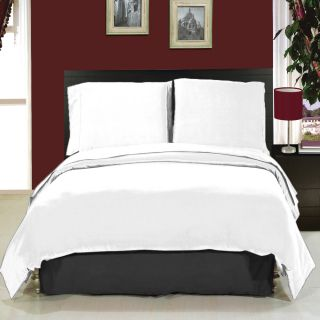 Just Linen 300 TC 100 Cotton Damask Stripe Self Design White Xtra Large Size Flat Bedsheet Set