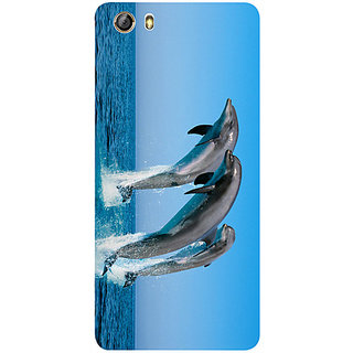 Casotec Dolphins Jump Water Design 3D Printed Hard Back Case Cover for Gionee Marathon M5 lite