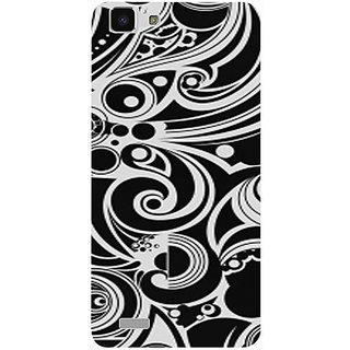 Casotec Black White Pattern Design 3D Printed Hard Back Case Cover for vivo Y27L